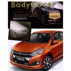 PADIE - IMPREZA PREMIUM Body Cover  DAIHATSU AYLA / AGYA - Grey / Pelindung Mobil / Selimut Mobil / Sarung Mobil