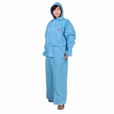 IndoClothing Jas Hujan Rok She - Biru