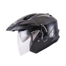 Beli Ink Tmax Solid Black Met Helm Half Face Kredit