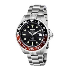 Invicta Pro Diver Pria 47mm Case Silver Stainless Steel Strap Arang Dial Automatic Watch 21867