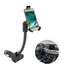 IPhone X 8 7 6 S PLUS & Galaxy S8 S7 CATATAN 8 6 5 4 Cell Phone Holder untuk Mobil, Goose Neck Pop Socket Car Phone Mount Charger Holder untuk Kebanyakan Smartphone dan IPod, MP3 & Perangkat GPS-Intl