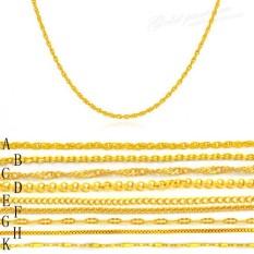 Panjang TIDAK DROP Warna untuk Plat Yang Kalung Emas Wanita Tipis Pendek Gaya Kunci Rantai Tulang Riak dari Rantai Air Kotak Rantai Rantai Bibir O Tipe Rantai Caterpillar-Intl