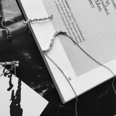 Laut Biru S Berbentuk Kalung Pemasangan Kecil Flash Berlian Rambut