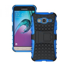 J3 Case (2016 Version), K-Xiang (Armor Series) Heavy Duty Protection Hybrid Shockproof Dual Layer Protective Case Cover With Stand for Samsung Galaxy J3 / Amp Prime / Express Prime (Blue, 5.0 inches) - intl