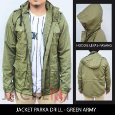 Jaket Parka Drill - Hijau / Green Army (JACKERT ORIGINAL)