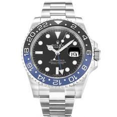Jam Rolex GMT Master-II Black Combi Blue Ring Automatic Men's Watch