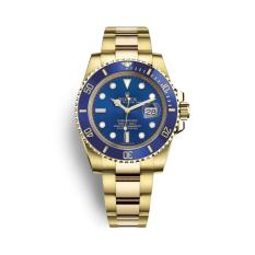 Jam Rolex Submariner Gold Blue Dial Automatic Men's Watch