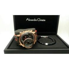 Jam Tangan Alexandre Christie Pria AC 9221 MT Limited Edition Rosgold