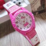 Beli Jam Tangan Anak Hello Kitty Badge G*rl Watch Leather Strap Pink Tua