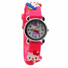 Beli Jam Tangan Anak Hello Kitty Cute Jelly Watch Desain Lucu Unik Pink Tua No Brand Murah