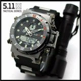 Diskon Jam Tangan Army 511 Tactical Dual Time Rubber Water Proof 30M 511 Indonesia