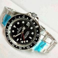 Review Jam Tangan Automatic Ro L Ex Gmt Master Ii Date Silver Plat Black Di Jawa Tengah