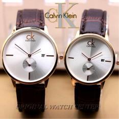 Toko Jam Tangan Calvin Klein Couple Jam Tangan Pria Dan Wanita Sepasang Tali Kulit Tanggal Aktif Detik Bawah Dekat Sini