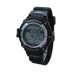 Jam Tangan CARDIFF LCD C241 Jam Tangan Sport Black  Jam Tangan Anti Air Pria Wanita Awet Berkualitas Murah 100% Asli