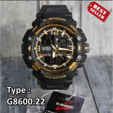 JAM TANGAN-CASl0 GSH0CK RUBBER STRAP GA-8600 WATER PROOF 30M