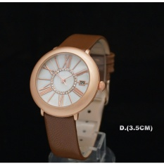 Beli Jam Tangan Casual Leather Woman Carier Scretarity New York Terbaru