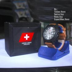 Jual Beli Jam Tangan Casual Pria Swiss Army Sa 013 Day Date Leather Starp Brown