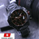 Spesifikasi Jam Tangan Casual Pria Swiss Army Sa7027Bj Crono Aktif Tanggal Aktif Tali Rantai New Edition Yg Baik