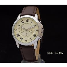 Jam Tangan Casual Sport Chrono Super Pocil Leather