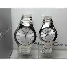 Jam Tangan Couple Alexandre Christie AC8028MDLD Classic Silver White