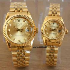 Jam Tangan Couple Datejust Stainless Steel Water Resist 10M