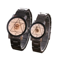Jam Tangan Couple GEAR (HARGA SEPASANG) Korea Fashion Stainless Steel Watch Cowo Cewe