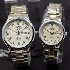 MIRAGE JAM TANGAN COUPLE DIAMOND SILVERWHITE MRG 2622 Jam Tangan Couple Pilot PL .