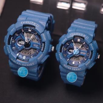 Beli sekarang Jam Tangan Couple Sport Motif Jeans Digitec DG 2114 2115 T  Dual Time Anti Air Original - Biru Dongker terbaik murah - Hanya Rp332.515 662b6c7b99