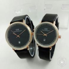 Jam Tangan Couple- strap kulit - Pria & Wanita- Daniel-Wellington DW- terbaru
