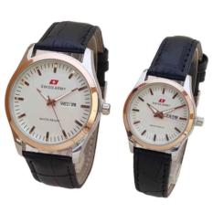 Jual Beli Online Jam Tangan Couple Swiss Army Leather Strap Sa 1214 Rz