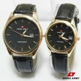 Harga Jam Tangan Couple Swiss Army Leather Strap Z Hitam Branded