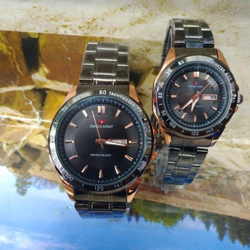Bandingkan Toko Jam Tangan Couple Swiss Army - Silver Stainless - SA 5221-RZ sale