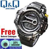 Jam Tangan Digital Qq878G25 Unisex Pria Wanita Water Resistant Terbaru