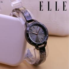 Jam Tangan Elle Kosovia - Limited Edition Elegant Series-Pria Wanita Formal Kasual Terbaru-Women or Men Luxury Watch-Stainless Strap-Kulit Kanvas Army Kekinian Sporty Fashionable Bonus Zippo Premium Beam Korek Free Trend 2018