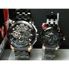 Jam Tangan Expedition Couple 6402 Black Rosgold Original