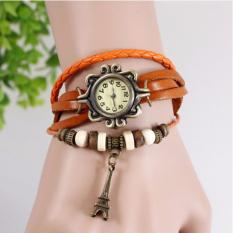 Review Jam Tangan Fashion Elegant Lilit Gelang Orange