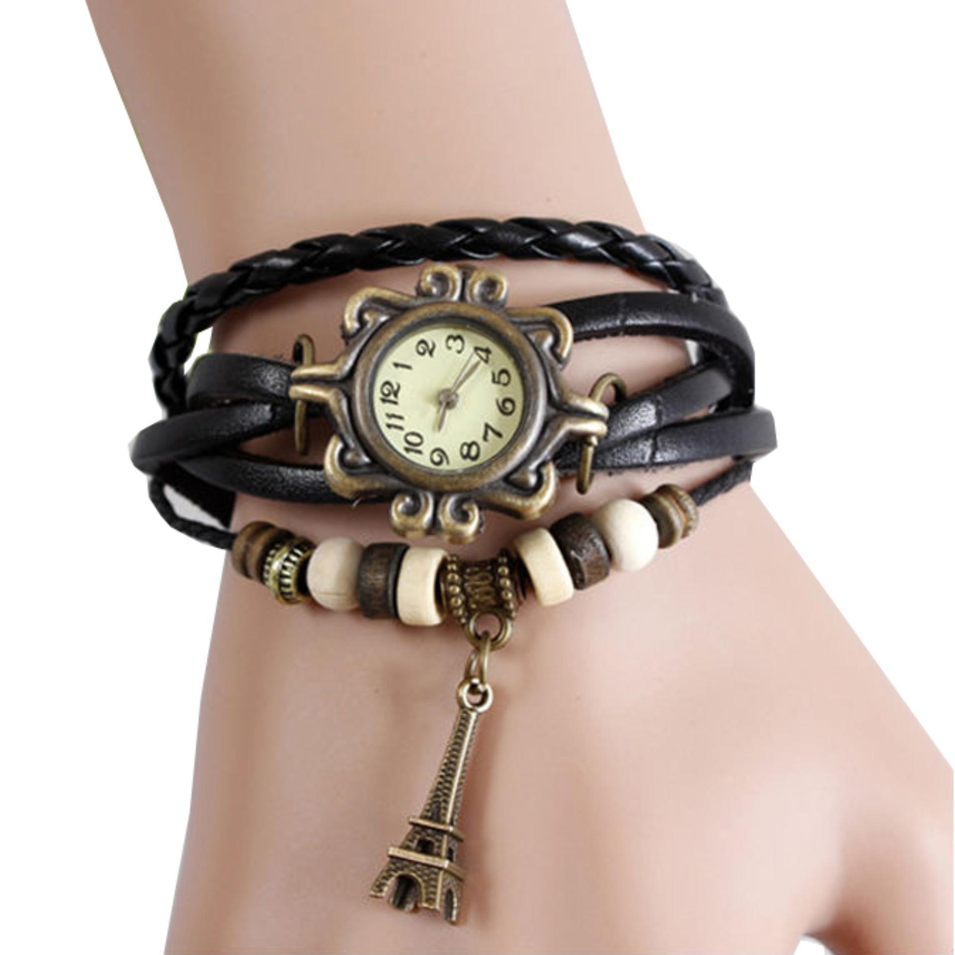Jam Tangan Gelang Jam Tangan Wanita Fashion Leather Strap Lilit Gelang 4731db2d6d