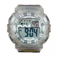 Jual Jam Tangan Laki Laki Lasika K Sport Digital W 1313 Rz Transparan Original