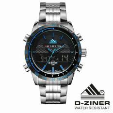 Harga Jam Tangan Original D Ziner Dziner Dz 8169 Silver List Blue Terbaru