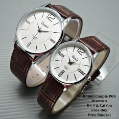 Jam Tangan Pasangan / Couple Murah Bomei Cerosa Brown Ring Silver