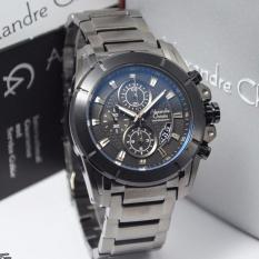 Jam Tangan Pria - Alexandre Christie 6226 - AC 6226 - Silver Plat Black - Stainless Steel - Anti Air