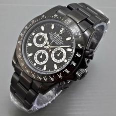 Jam Tangan Pria AUTOMATIC / Cowo R o l e x Daytona Rantai Full Black