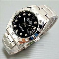 Jam Tangan Pria Automatic (tanpa battray)Tanggal Aktif Stainless Steel Water Resist 10M