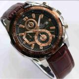 Diskon Jam Tangan Pria Casio Edifice Efr 539L 1Av Brown Leather Coklat Casio Edifice
