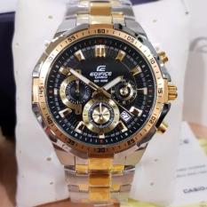 Jam Tangan Pria Casio Edifice EFR 554D - 1A2VUDF Stainless SilverGold Dial Black RedBull (Limited E