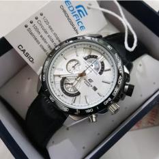 ... Jam Tangan Pria Cassio Edifice EFR 520L 1AV Leather Black Dial White Series
