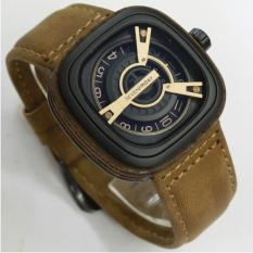jam tangan pria casual - leather strap - Limited Edition - Sevenfriday