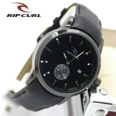 Jam tangan pria casual - trendy - leather strap - tanggal hari aktif - Ripcurl detroit terbaru