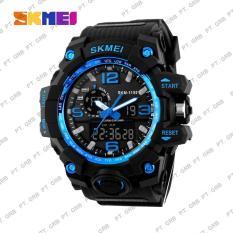Jual Beli Jam Tangan Pria Digital Analog Skmei 1155 Blue Water Resistant 50M Banten