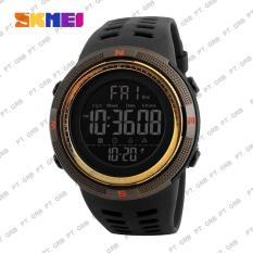 Spesifikasi Jam Tangan Pria Digital Skmei 1251 Gold Water Resistant 50M Murah Berkualitas